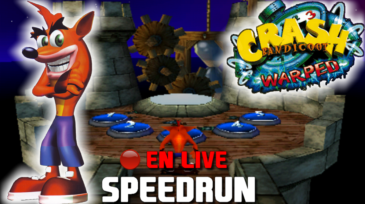 Setsky en live sur Crash Bandicoot 3 Warped - [Speedrun] Finir le jeu en moins de 2h