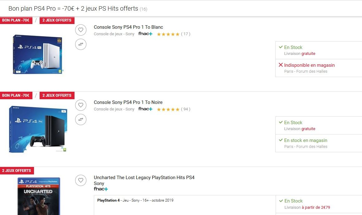 Bon Plan Ps4 Pro 2 Jeux 1 Box Gaming A 329 99 Euros Au Lieu De 460 Jeux Video Multi
