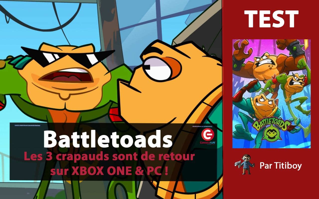 [VIDEO TEST] BATTLETOADS sur Xbox One X - Les 3 crapauds de retour