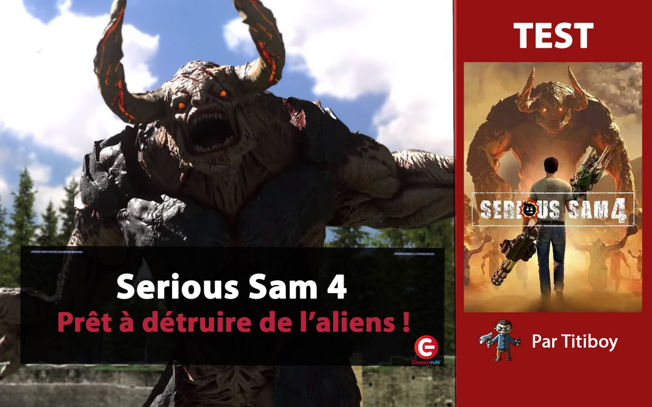 [VIDEO TEST] Serious Sam 4 sur PC... entre plaisir et plantage !